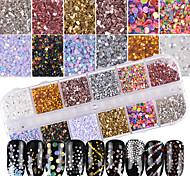 Недорогие -1 комплект Гламур Bling Bling Гель для ногтей Пайетки Порошок блеска Гель для ногтей Как на фотографии Дизайн ногтей Советы для ногтей