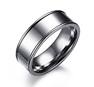 Недорогие -Муж. Классические кольца , Простой На каждый день Мода Нержавеющая сталь Круглый Бижутерия Официальные Офис
