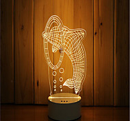 1 Set Of 3D Mood Night Light Hand Feeling Dimmable USB Powered Gift Lamp Leap