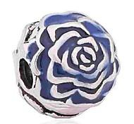 Недорогие -Ювелирные изделия DIY 1 штук Бусины Синий Тёмно-синий Цветы Эмаль Сплав Шарик 0.5 см DIY Браслеты Ожерелье