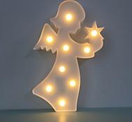 abordables -1pc LED Night Light Blanc Crème Piles AA alimentées Chevet