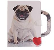 Недорогие -Кейс для Назначение Apple iPad Air 2 iPad (2017) Бумажник для карт со стендом С узором Чехол С собакой Твердый Искусственная кожа для