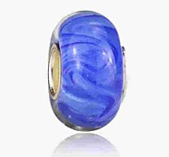 cheap -DIY Jewelry 1 pcs Beads Coloured Glaze Alloy Royal Blue Round Bead 0.2 cm DIY Necklace Bracelet
