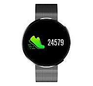 Недорогие -Смарт Часы Пульсомер Измерение кровяного давления Информация Контроль камеры Контроль APP Педометр Датчик для отслеживания сна Найти мое