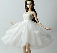 Недорогие -Платья Платье Для Кукла Барби Белый Платья Для Девичий игрушки куклы
