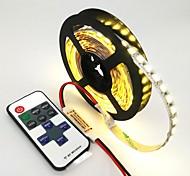 Недорогие -ZDM® 120 светодиоды Светодиодная лента 1M 1 пульт дистанционного управления Keys Тёплый белый Холодный белый Синий Можно резать