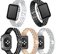 Недорогие -Ремешок для часов для Apple Watch Series 3 / 2 / 1 Apple Повязка на запястье Современная застежка Металл