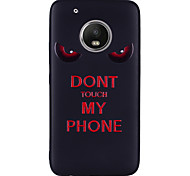 cheap -Case For Motorola MOTO G5 Plus MOTO G5 Pattern Back Cover Word / Phrase Soft Silicone for Moto G5 Plus Moto G5 Moto G4 Plus Moto G4 Play