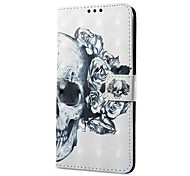 cheap -Case For OPPO Oppo R11 Oppo A57 Card Holder Wallet with Stand Flip Magnetic Pattern Full Body Skull Hard PU Leather for OPPO R11 OPPO R9s