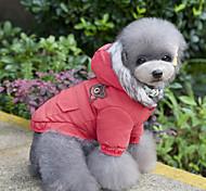 Недорогие -Кошка Собака Плащи Толстовки Комбинезоны Платья Одежда для собак На каждый день Сохраняет тепло Спорт Новый год Животные Красный Синий