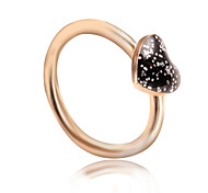 cheap -Women's Band Ring Black Alloy Heart Simple Fashion Sweet Daily Costume Jewelry
