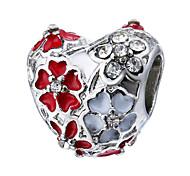 Недорогие -Ювелирные изделия DIY 1 Бусины Лиловый Перламутрово-розовый Красный Зеленый Синий Сердце Цветы Стразы Сплав Шарик 0.45 см DIY Браслеты