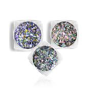 Недорогие -1 комплект Блестящие Наклейки для ногтей Градиент цвета Гель для ногтей Порошок блеска порошок Дизайн ногтей