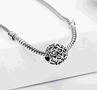 cheap -DIY Jewelry 1 pcs Beads Alloy Silver Oval Bead 0.5 cm DIY Necklace Bracelet