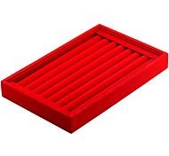 cheap -Jewelry Boxes Cufflink Box Cloth Fabric Square Linen Black White Red Black Light Gray