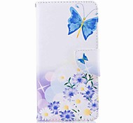 cheap -Case For Nokia Nokia 8 Nokia 6 Card Holder Wallet with Stand Flip Pattern Full Body Cases Butterfly Hard PU Leather for Nokia 8 Nokia 6