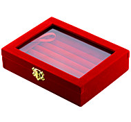 cheap -Jewelry Boxes Cufflink Box Fabric Square Black Red