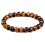cheap -Men's Women's Bracelet Strand Bracelet Onyx Tiger Eye Stone Vintage Bohemian Fashion Agate Circle Jewelry Gift Evening Party Costume