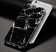 Недорогие -Кейс для Назначение IPhone 7 iPhone 7 Plus iPhone 6s Plus iPhone 6 Plus iPhone 6s iPhone 6 Apple С узором Кейс на заднюю панель Мрамор