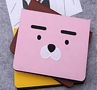 Недорогие -Кейс для Назначение iPad 9.7 (2017) Бумажник для карт со стендом С узором Авто Режим сна / Пробуждение Чехол Мультипликация Твердый Кожа