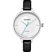Недорогие -Жен. Повседневные часы Модные часы Наручные часы Японский Кварцевый Защита от влаги Повседневные часы Кожа Группа Мода Elegant Черный