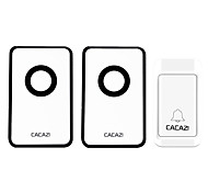 cheap -Ding dong Music One to Two Doorbell Sound adjustable Wireless Doorbell 120 Surface Mounted