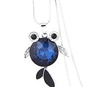 cheap -Women's Fish European Fashion Pendant Necklace Rhinestone Glass Alloy Pendant Necklace , Party