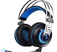 Недорогие -SADES A7-2 Головная повязка Проводное Наушники динамический пластик Игры наушник С микрофоном наушники