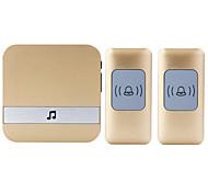 Недорогие -Дзынь-дзынь Музыка Двойной к одному дверному звонку Регулируемый звук Беспроводное дверной звонок 300 Крепеж на поверхности