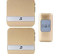 Недорогие -Дзынь-дзынь Музыка От одного до двух дверных звонков Регулируемый звук Беспроводное дверной звонок 300 Крепеж на поверхности