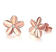 cheap -Women's Stud Earrings With Gift Box Crystal Fashion Lovely Alloy Flower Jewelry Silver Rose Gold Wedding Daily Costume Jewelry