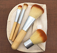 cheap -Makeup Brush Set Nylon Eco-friendly Soft Travel Size Full Coverage Bamboo Face