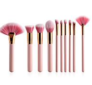 Недорогие -10 в комплекте Постоянные принадлежности для макияжа Синтетические волосы Мягкость Дерево Лицо