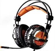 baratos -SADES A6 Bandana Com Fio Fones Dinâmico Plástico Games Fone de ouvido Com Microfone Fone de ouvido