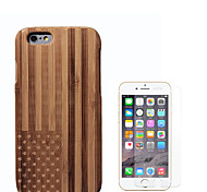 cheap -Case For Apple iPhone 6 Shockproof Full Body Cases Flag Hard Bamboo for iPhone 6s iPhone 6