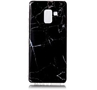 cheap -Case For Samsung Galaxy A8 2018 IMD Pattern Back Cover Marble Soft TPU for A8 2018