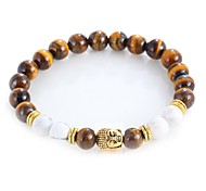 cheap -Men's Women's Onyx Tiger Eye Stone Bohemian 1pc Bracelet Strand Bracelet - Vintage Bohemian Fashion Gold Silver Bracelet For Daily