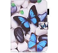 cheap -Case For Samsung Galaxy Tab S2 8.0 Card Holder Wallet with Stand Pattern Auto Sleep/Wake Up Full Body Cases Butterfly Hard PU Leather for