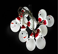 abordables -10 LED Lumière de chaîne de 1.5M Blanc Décorative Piles AA alimentées