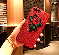 cheap -Case For Apple iPhone X iPhone 7 Plus Pattern Back Cover Flower Hard PU Leather for iPhone X iPhone 8 Plus iPhone 8 iPhone 7 Plus iPhone