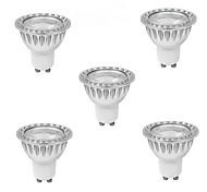cheap -5pcs 5W 400-500 lm GU10 LED Spotlight 1 leds COB Warm White Cold White Natural White 85-265V
