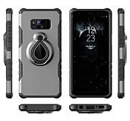 Недорогие -Кейс для Назначение SSamsung Galaxy S9 S9 Plus Защита от удара Кольца-держатели Кейс на заднюю панель броня Мягкий ТПУ для S9 Plus S9 S8