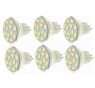 abordables -SENCART 6pcs 6W 450 lm G4 MR11 Focos LED MR11 12 leds SMD 5730 Decorativa Blanco Cálido Blanco Fresco 12-24V
