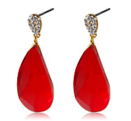 cheap -Women's Crystal Cubic Zirconia Crystal Zircon Gold Plated Drop Earrings - Classic Elegant Fashion Drop For Party / Evening Office & Career