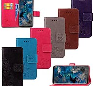Недорогие -Кейс для Назначение SSamsung Galaxy S9 S9 Plus Бумажник для карт Кошелек Флип Чехол Цветы Твердый Настоящая кожа для S9 Plus S9 S8 Plus