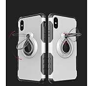 cheap -Case For Apple iPhone X iPhone 8 Shockproof Ring Holder Back Cover Armor Soft TPU for iPhone X iPhone 8 Plus iPhone 8 iPhone 7 Plus