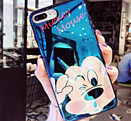 cheap -Case For Apple iPhone X iPhone 7 Plus Plating Pattern Back Cover Cartoon Soft TPU for iPhone X iPhone 8 Plus iPhone 8 iPhone 7 Plus