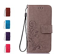 cheap -Case For Samsung Galaxy J7 (2017) J7(2016) Card Holder Wallet Flip Full Body Cases Flower Hard Genuine Leather for J7 (2017) J7 (2016) J7