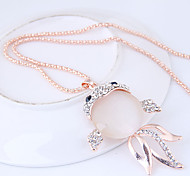 cheap -Women's Rhinestone Pendant Necklace - Alloy Fashion Sweet European Fish Necklace For Party