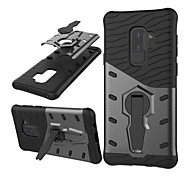 cheap -Case For Samsung Galaxy S9 S9 Plus Shockproof with Stand Armor Back Cover Armor Hard PC for S9 Plus S9 S8 Plus S8 S7 edge S7 S6 edge S6